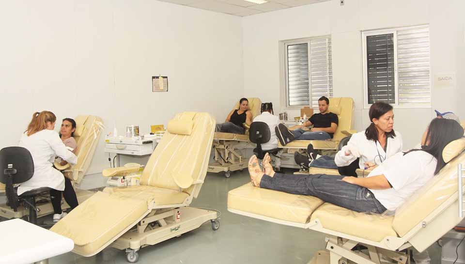 Campanha de doação de sangue fez parte do Dia de Cooperar