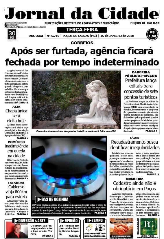 JC 16 de janeiro de 2018 - Jornal da Cidade