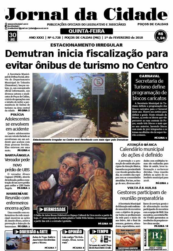 JC 01 de fevereiro de 2018 - Jornal da Cidade