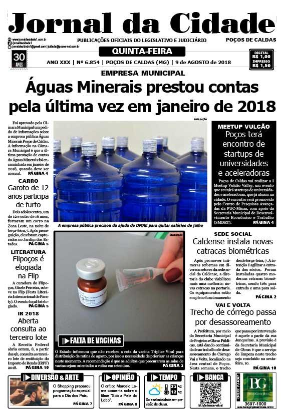 Edição digital do Jornal da Cidade