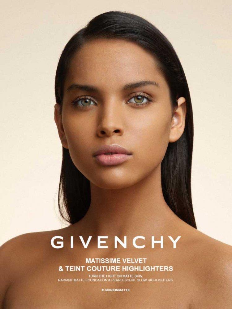 Modelo brasileira estrela campanha de beleza da Givenchy - Jornal da Cidade